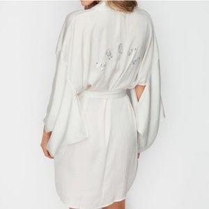 Victoria's Secret sexy rinestone satin kimono/robe